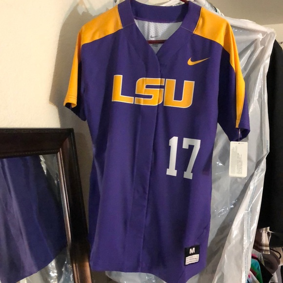 buy online 9e350 d92f0 Nike Medium LSU baseball ⚾️ Button Up NWT